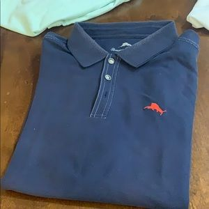 Tommy Bahama blue polo -xl good condition